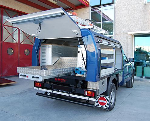 Ford Ranger Fahrzeugeinrichtung mit Schwerlastauszug