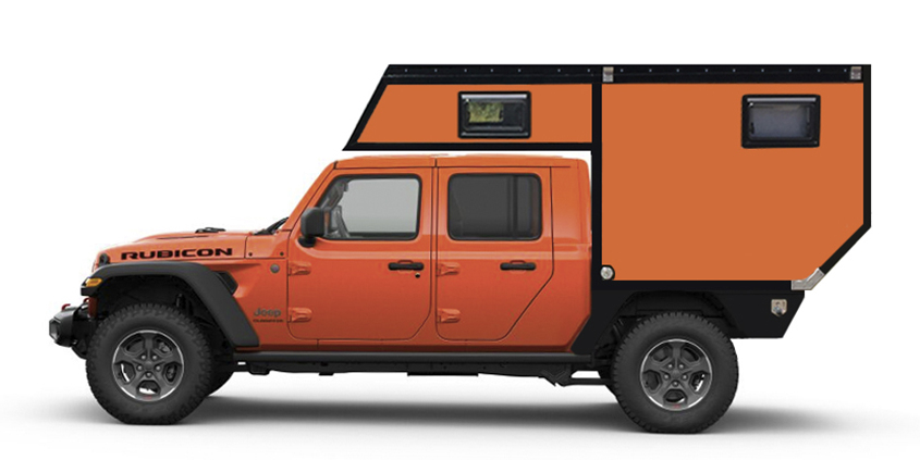 Pickup Camper Jeep Gladiator