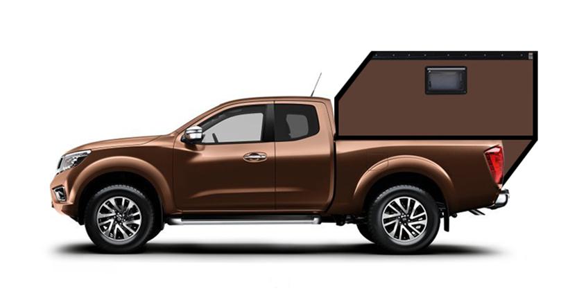 Nissan Navara Extracab Wohnkabine Hardtop Camper