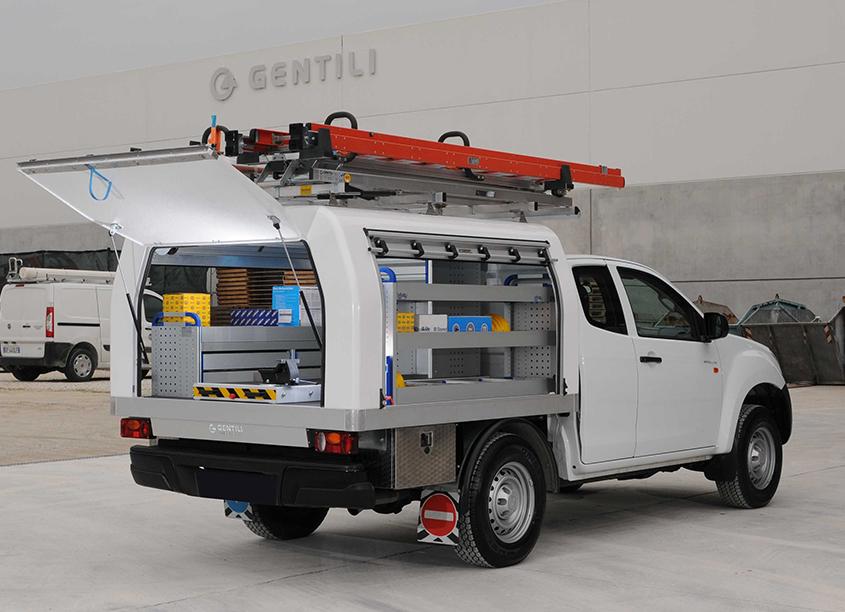 Pickup mit Fahrzeugeinrichtung